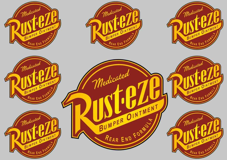 Rust Eze Decal Set Quality Sticker Vinyl Graphic Logo Adhesive Kit 8 Pcs Ebay