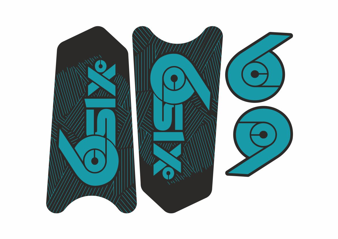 Race Face NextR Crank Decals Set Stickers Mountain Bike Adhesive Turquoise