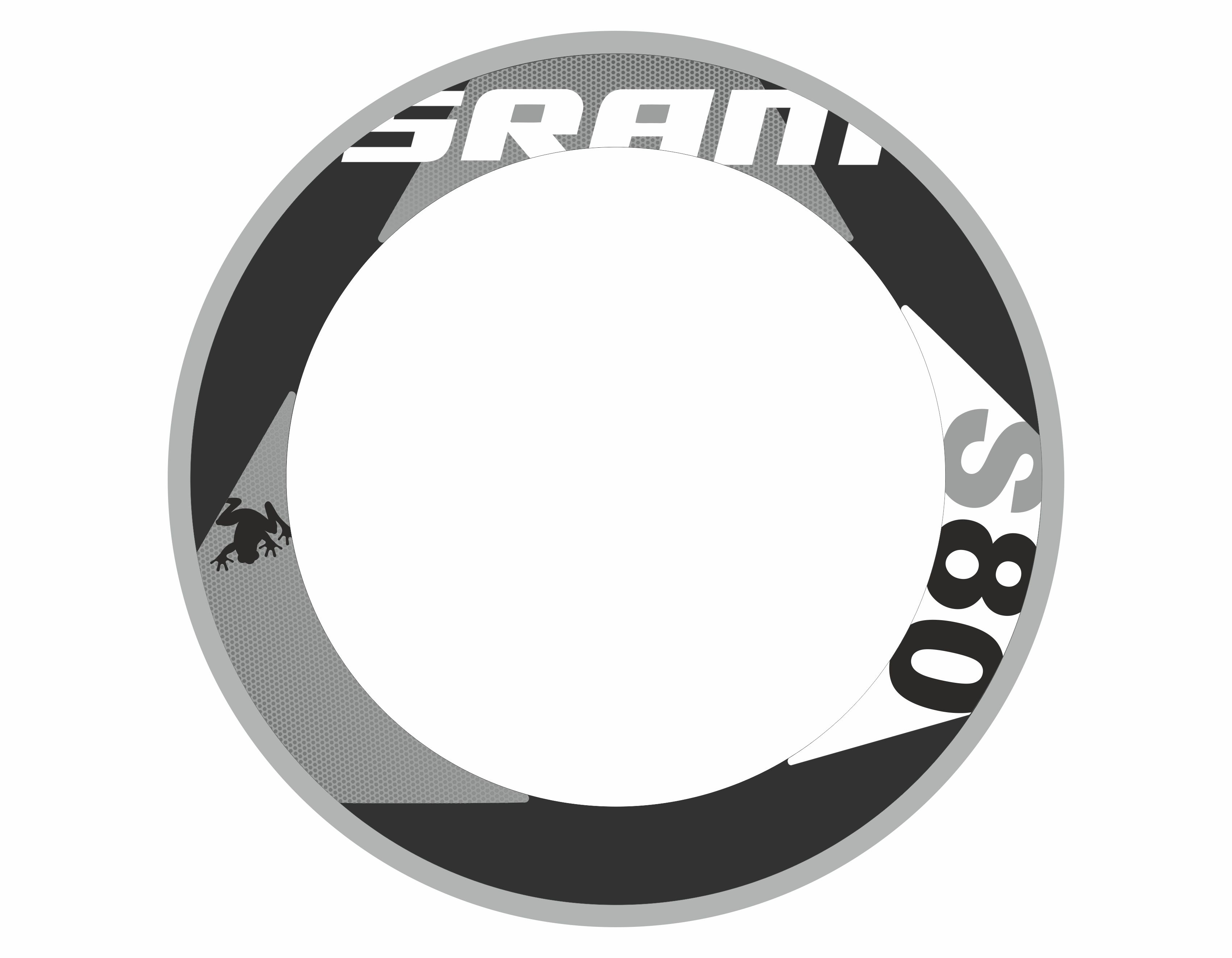 SRAM S80 RIM DECAL SET  FOR TWO WHEELS