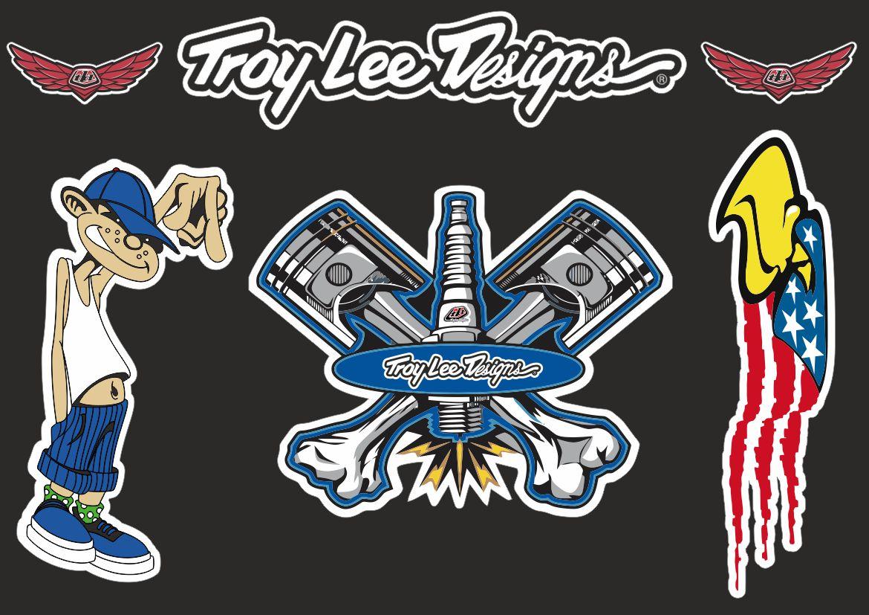 Troy Lee Designs Bike Bicycle Frame Decal Stickers Graphic Adhesive Set Vinyl #3
