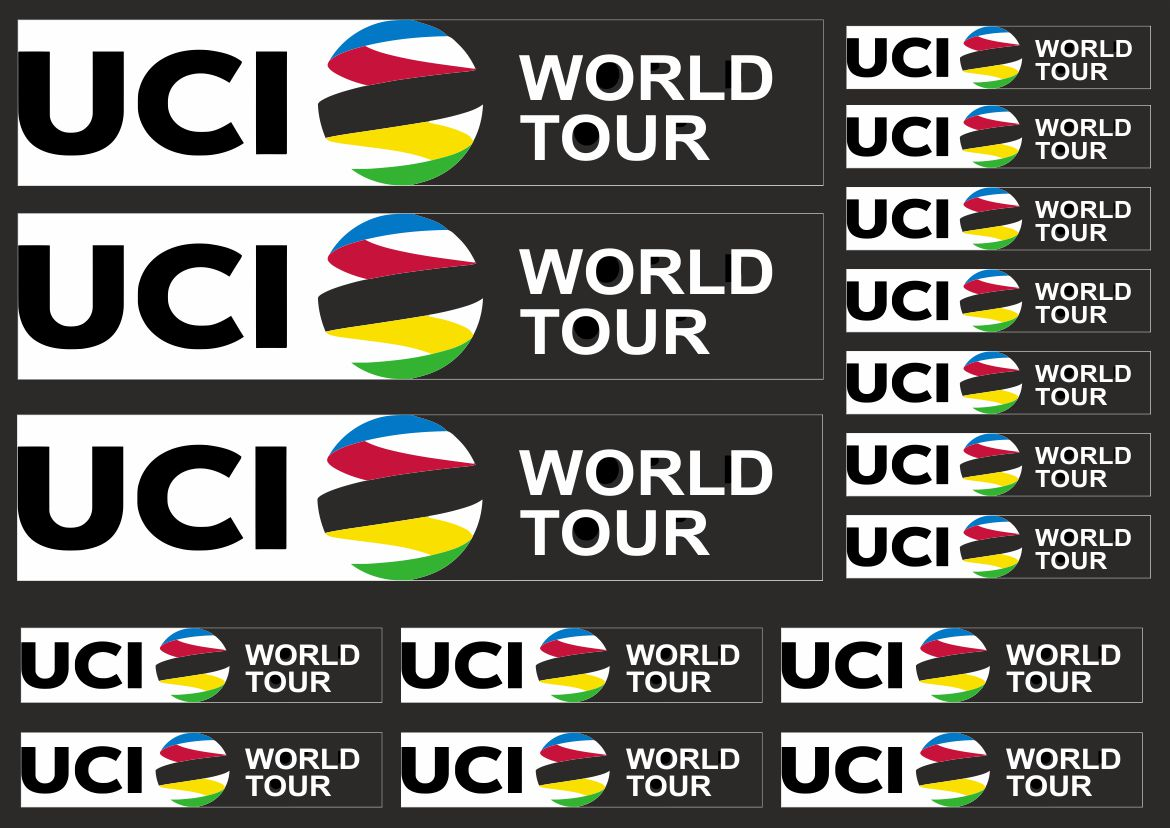 Details about uci world tour custom stickers for mtb road bike frame decals adhesive 16 pcs